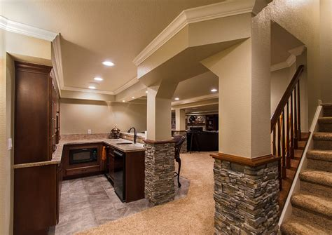 Basement Finishing Flintstone Marble Granite Finished Basement Ideas