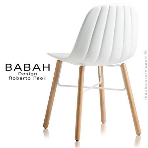 Chaise Blanche Pied Bois by Chaise Design Blanche Pied Bois Id 233 Es De D 233 Coration
