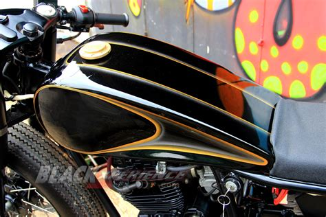 Shockbreaker Depan Byson 1 Set Original Yamaha modifikasi klasik cafe racer yamaha scorpio blackxperience