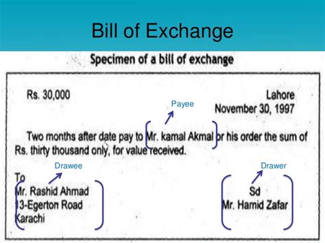 Bill Of Exchange Drawer by Promissory Note Bill Of Exchange