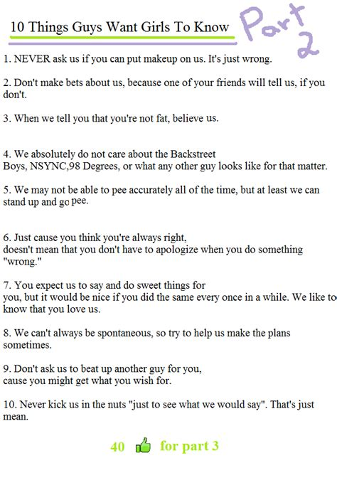 Top Five Sexual Things Want Us To Do by 10 Things Guys Want To Know1 Never Ask Us If You Can