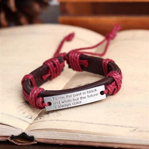 Handmade Bracelets Australia - 4 leather bracelets australia