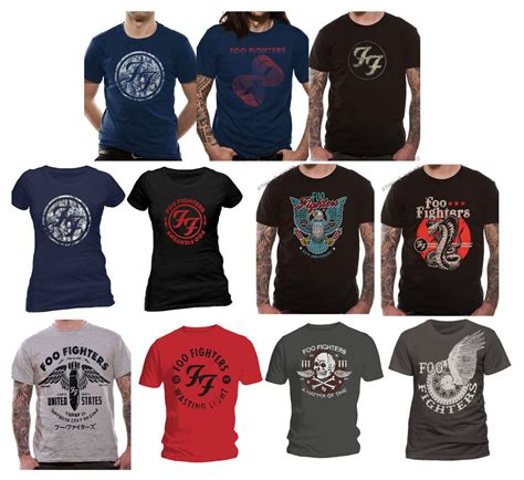 T Shirt Dave Grohl Solhoette Grey official foo fighters t shirt sonic highways eagle gold