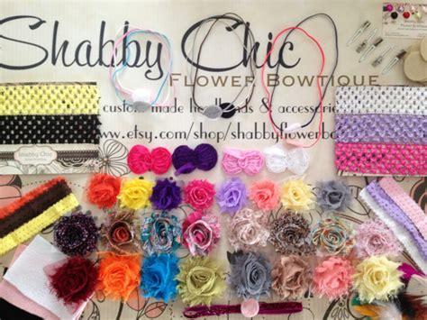 items similar to make your own shabby chic bow headband items similar to sale 125 pieces creates 20 headbands
