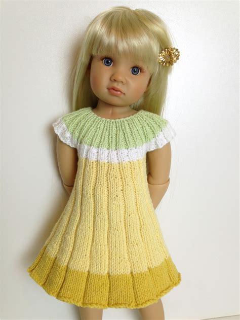 design doll dress flower dress knitting pattern fits 18 quot doll knit n play