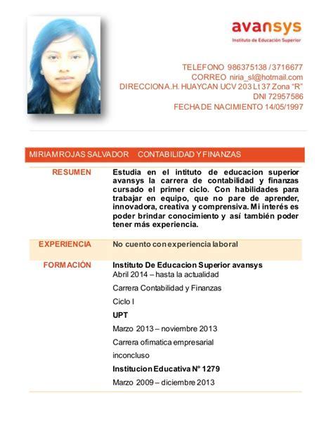 Modelo Oficial Curriculum Vitae España Modelo De Curriculum Vitae Ucv Modelo De Curriculum Vitae
