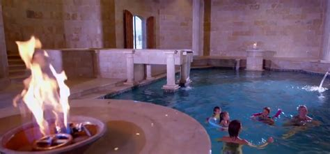 roman style bathtub this home s roman style bath house will blow you away aol features