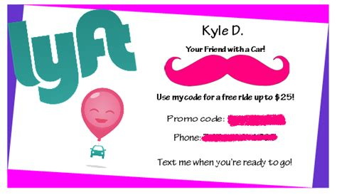 lyft uber referral card templates made my referral card what do you think removed promo