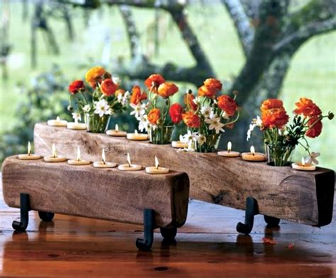 Table Centerpiece Ideas Rustic Autumn Table Decoration Wooden Box With Fruit And