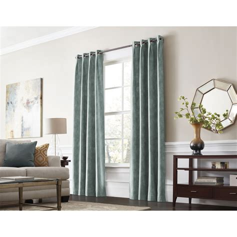 room cooling curtains shop allen roth winbourne 84 in mineral polyester
