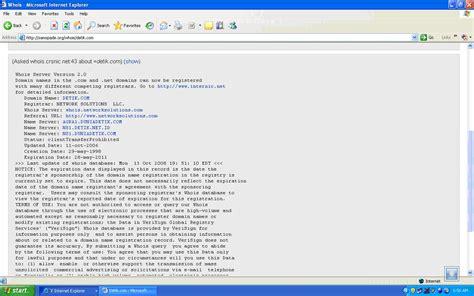detik okezone perintah whois nslookup untuk mencari informasi domain