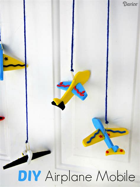 plane diy airplane diy craft mobile for darice