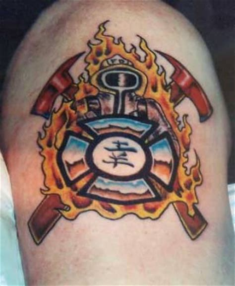 fire department tattoos beautiful fighter