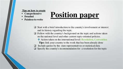 how to write a position paper position paper