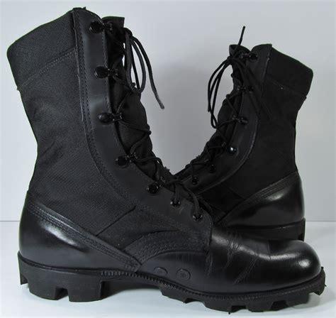 vintage combat boots mens 10 d r black by moivintage