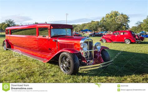 Auto Held by 1930 Pontiac Rod Limousine Editorial Stock Image