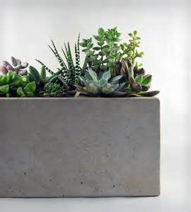 rectangular concrete planter home decor lighting