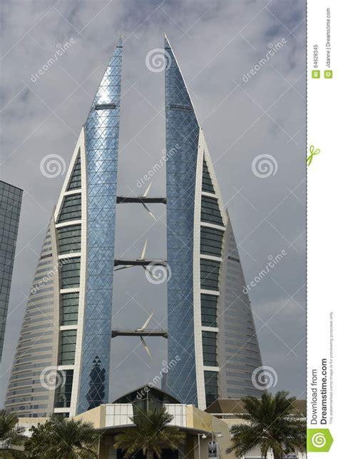 design grafix bahrain world trade center manama bahrain editorial image