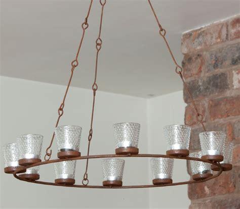 tealight chandelier rustic tea light chandelier lighting home