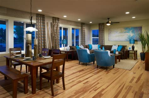 Builders Floor Service Inc by Ryland Model Homes Traditional Living Room Denver