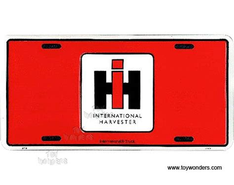 Harvester License Office by License Plate International Harvester Sign Slaihr