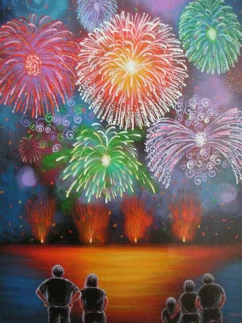 spray paint fireworks 全家放烟花新年儿童画作品在线看 节日儿童画 5068儿童网