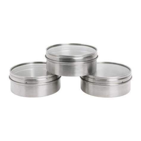 Magnetic Spice Jars Ikea 3 Magnetic Stainless Steel Containers Tins Spice Jars