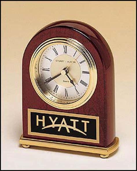desk clock engraved gifts corporate clocks