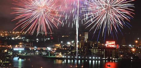 fireworks dc new years top of the world observation level baltimore landmarks