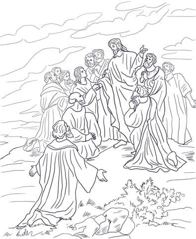 great commission coloring page supercoloringcom