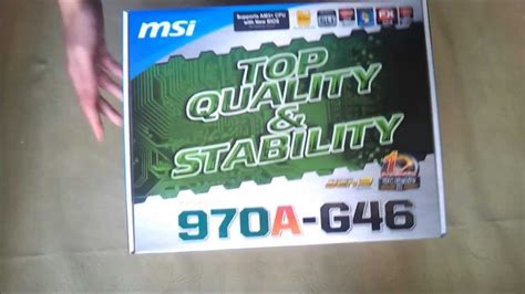 reset bios msi 970a g46 msi 970a g46 amd motherboard unboxing and review youtube