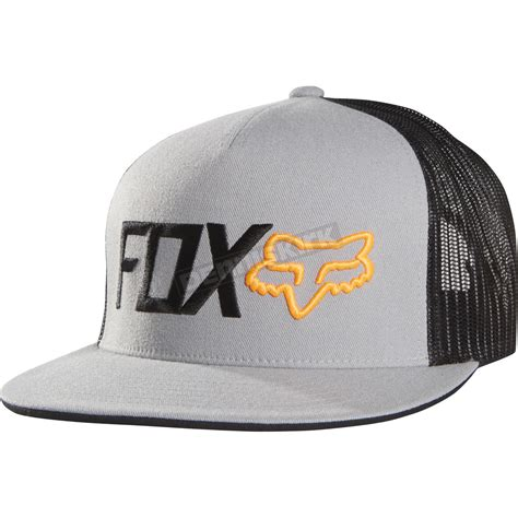 Ready Stock Topi Snapback Fox Hitam fox gray warmup snapback hat 11709 006 atv dirt bike motorcycle snowmobile dennis kirk inc