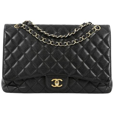 Chanel Maxy Besar 1 chanel classic single flap bag quilted caviar maxi for sale at 1stdibs