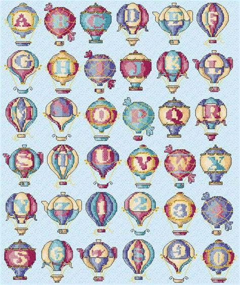 hot stuff 4 letters maria diaz designs hot air balloons alphabet cross