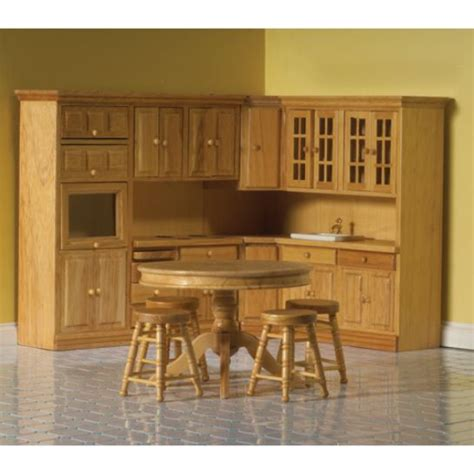 dolls house kitchens dolls house kitchen 7 piece pine fitted kitchen 12th scale dhe 4435