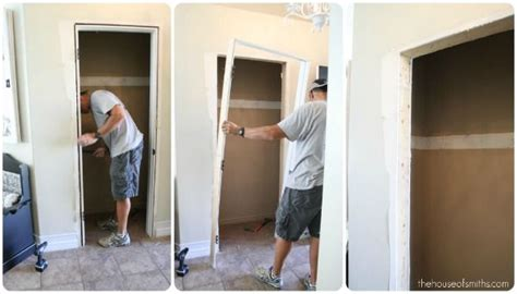 How To Remove Closet Doors by How To Take Out A Door Frame Decor
