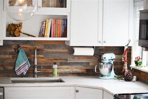 reclaimed wood backsplash eco friendly kitchen backsplash options that won t cost a