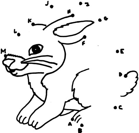 printable rabbit dot to dot dot to dots pictures tracing activities kiddo shelter