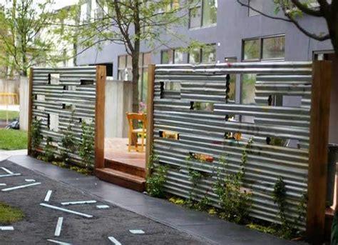 corrugated metal fence ideas 15 superbly creative diy fence design ideas