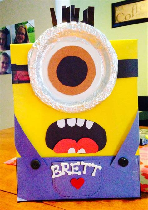 how to make a minion valentines day box valentines minions and box on