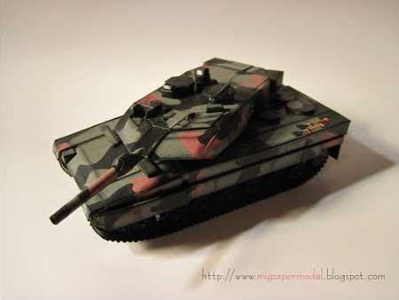 leopard 2a6 german battle tank papercraft paperkraft net