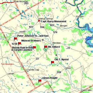 bosque county map fort tours bosque county