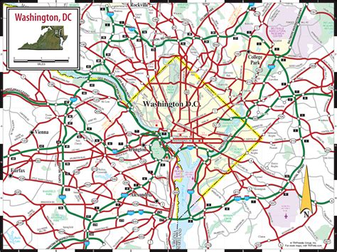 map of dc area map of washington dc area