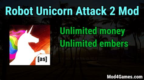 game offline mod apk unlimited robot unicorn attack 2 unlimited money embers game mod apk