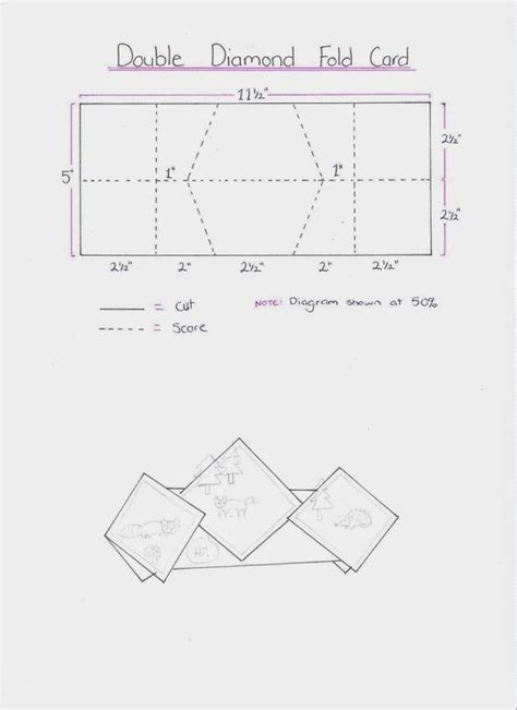 fold up card template stin it up with belinda fold card