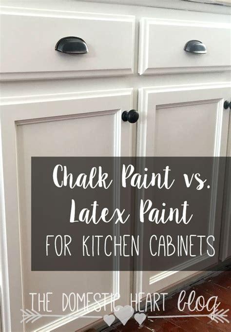 Chalk Paint vs. Latex Paint for Kitchen Cabinets   DIY