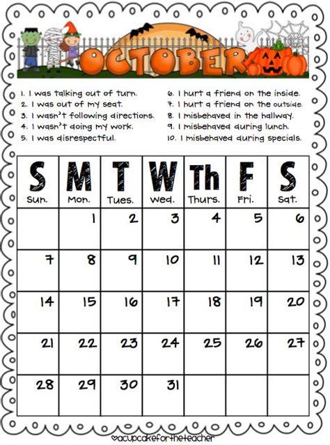 printable monthly behavior calendar 17 best ideas about behavior calendar on pinterest