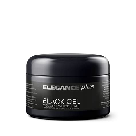 elegance plus styling gel covers white hair 100ml new ebay elegance hair gel plus color white hair covering gel