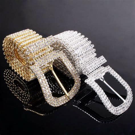Rhinestone Belt luxury rhinestone belt gold silver