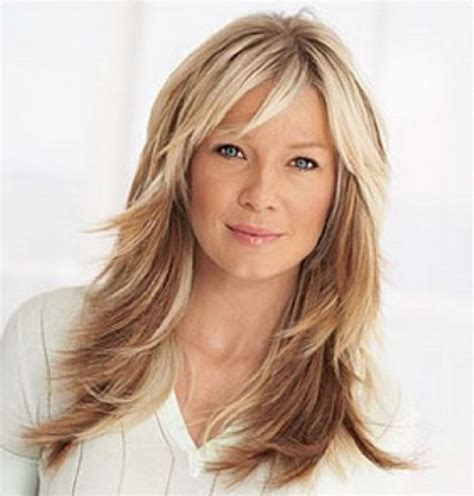 2015 hairstyles for women over 40 long layered hairstyles with bangs over 40 long hairstyles